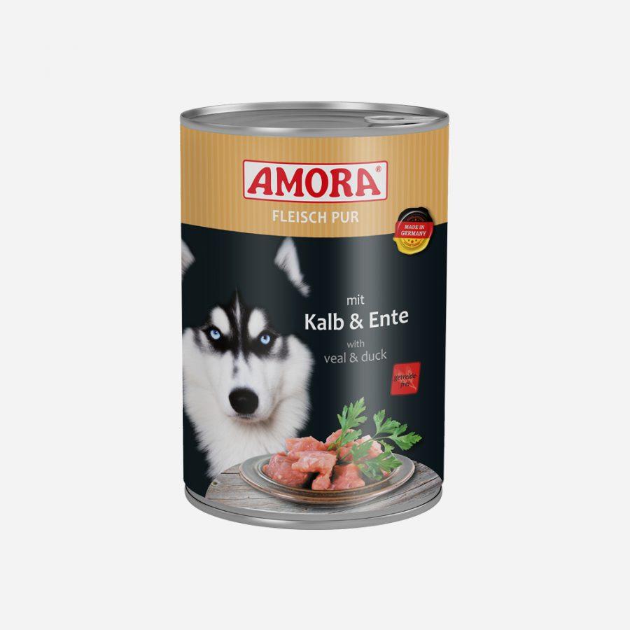 produkte-hund-fleisch-pur-kalb-ente -400g