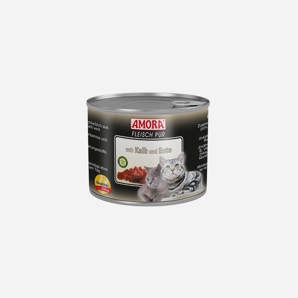 produkte-katze-fleisch-pur-kalb-ente-200g