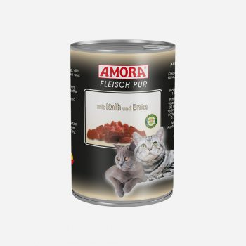 produkte-katze-fleisch-pur-kalb-ente-400g